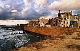 Algheros bymur, bygget i 1500-tallet