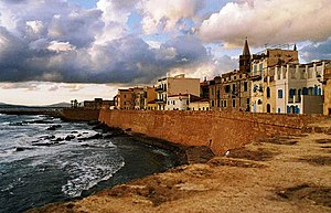 16th century catalan city walls, Alghero, Sardinia