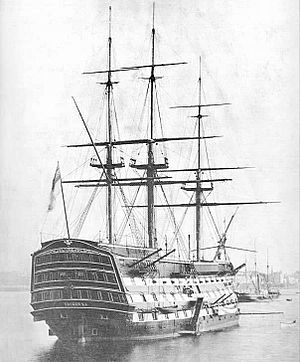 Sir George Grey, 1st Baronet - HMS Victory which Sir George commanded from 1796 to 1797.