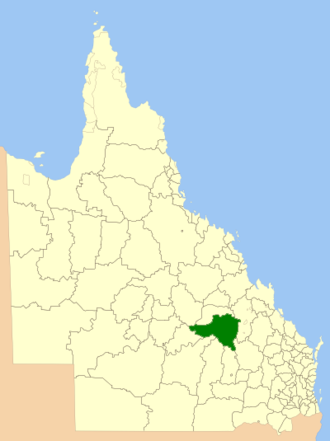 Shire of Bauhinia - Location within Queensland