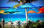 Beach Umbrellas at Castaway Cay, Bahamas.jpg