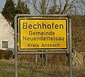 Bechhofen (Neuendettelsau), Ortsschild 2720.jpg