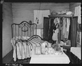Bedroom in home of Mack Gibson, miner, who lives in company housing project. Consolidated Coal Company, Bankhead... - NARA - 540631.tif