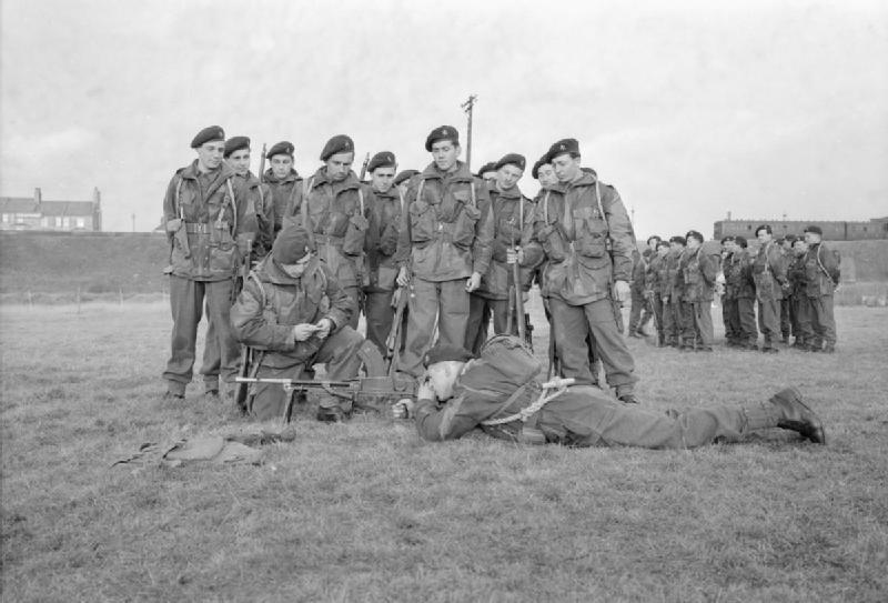 Belgian Commandos in Training in Britain, 1945 D23711