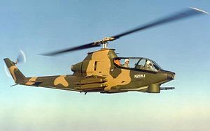 Bell AH-1 Cobra - Bell 209 prototype of the AH-1 Cobra series, with skids retracted (FAA no. N209J)