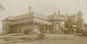 Bellevue, Glebe - Bellevue, Glebe 1899. The large house behind adjoining is Venetia