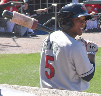 Ben Revere - Revere on deck for Rochester Red Wings in April 2011