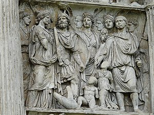 Arch of Trajan (Benevento) - Trajan with barbarian princes.