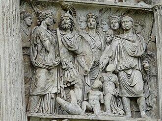 Arch of Trajan (Benevento) - Trajan with barbarian princes.