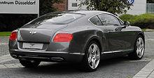 Bentley Continental GT (II) – Heckansicht (2), 30. August 2011, Düsseldorf.jpg