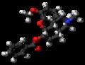 Benzhydrocodone molecule ball.png