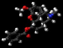 Benzhydrocodone-molekulbal.png