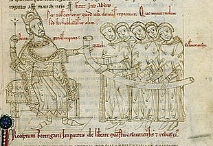 King Berengar I and the monks of Casauria Berengar I of Italy.jpg