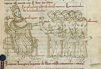 Battle of Brenta - Berengar portrayed as king in a twelfth-century manuscript