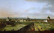 Bernardo Bellotto, il Canaletto - View of Vienna from the Belvedere