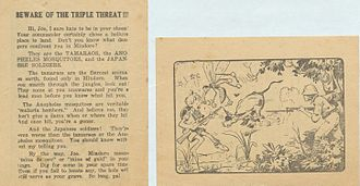 Philippines Campaign (1944–1945) - Japanese leaflet designed to discourage the landing American troops.