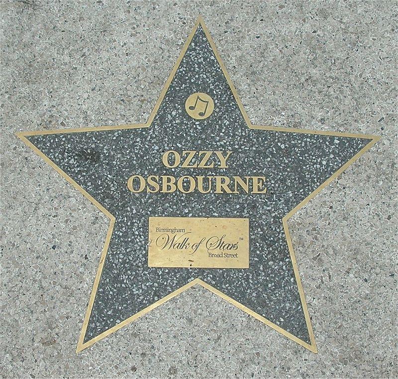 Birmingham Walk of Stars Ozzy Osbourne.jpg