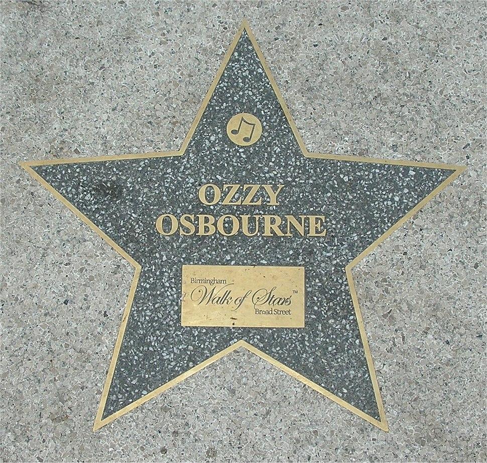 Birmingham Walk of Stars Ozzy Osbourne