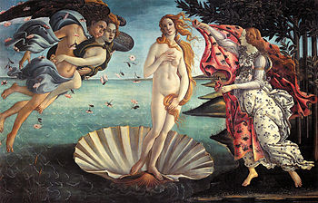 The Birth of Venus, 1486. Uffizi, Florence.
