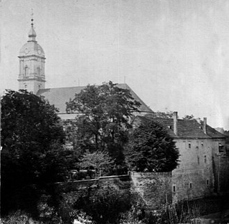 Georg von Blumenthal - The Episcopal Palace of Georg von Blumenthal at Fürstenwalde, from a photo taken in the 1880s. Georg escaped through one of the windows