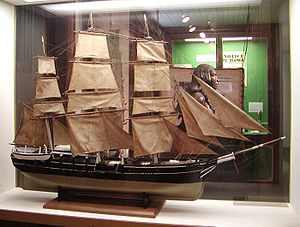 Model of a 19th-century vessel in the Bishop M...