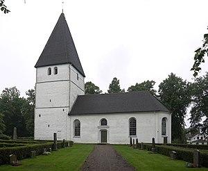 Bjälbo Runestones - The church at Bjälbo, where the runestones were found.