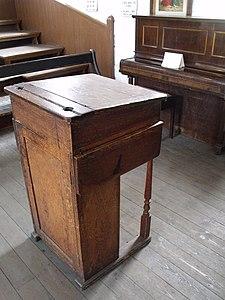 Black Country Living Museum - St James's School - head teacher's desk.jpg