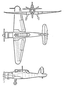 Blackburn Skua 3-view L'Aerophile November 1939.jpg