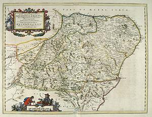 Aberdeenshire - Image: Blaeu Atlas of Scotland 1654 ABERDONIA & BANFIA Aberdeenshire and Banffshire