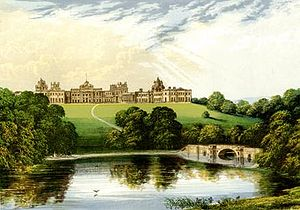 Blenheim Palace - Engraving of Blenheim Palace