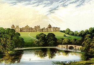 Engraving of Blenheim Palace.