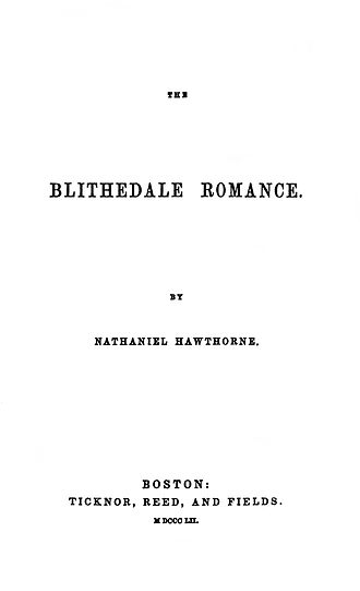 The Blithedale Romance - First edition title page.