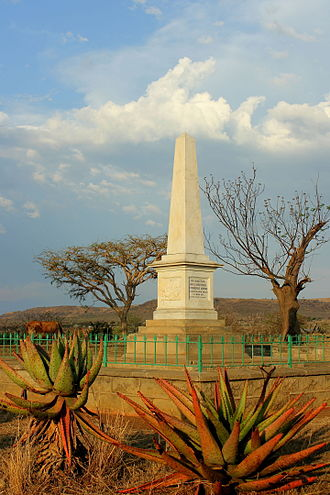 Voortrekkers - View of the Bloukrans Memorial commemorating the death of the Boers who lost their lives at Moordspruit, 17 February 1838.