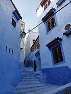 Blue Alley at Chefchaouen - panoramio.jpg
