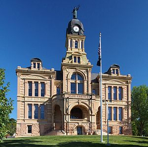 Blue Earth County Courthouse - The Blue Earth County Courthouse from the northwest