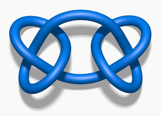 Square knot (mathematics) connected sum of two trefoil knots with opposite chirality
