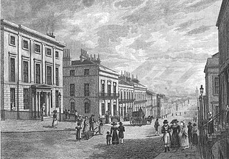 Blythswood Hill - St Vincent Street on Blythswood Hill, Glasgow around 1830, viewing east.