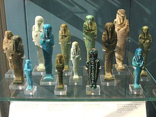 Ushabti funerary figurine used in ancient Egyptian religion