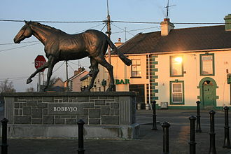 Bobbyjo - Statue of Bobbyjo in Mountbellew, County Galway
