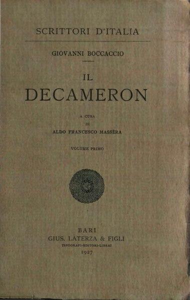 File:Boccaccio - Decameron I.djvu