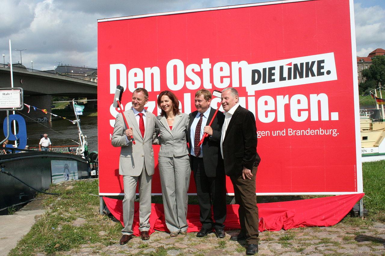 Bodo Ramelow, Kerstin Kaiser, André Hahn und Lothar Bisky.jpg