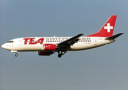 Boeing 737-3M8, TEA - Trans European Airways Switzerland AN0204565.jpg