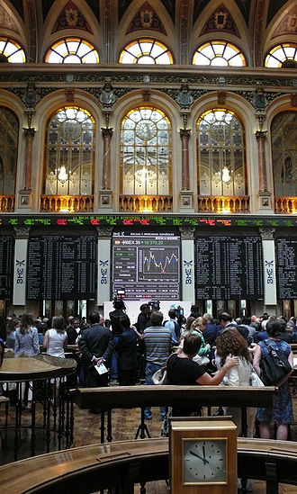 Bolsa de Madrid - Interior of Madrid Stock Exchange