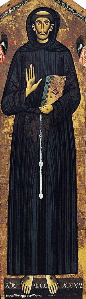 Sisters of St. Francis of the Martyr St. George - Bonaventura Berlingieri - St Francis of Assisi detail
