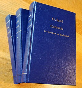 Bookbinding, the 3 vol. of Consuelo by G.Sand.jpg