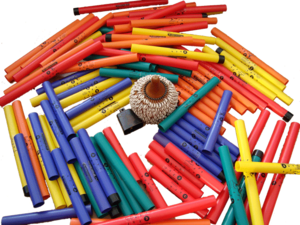 Boomwhacker - A large pile of pentatonic boomwhackers