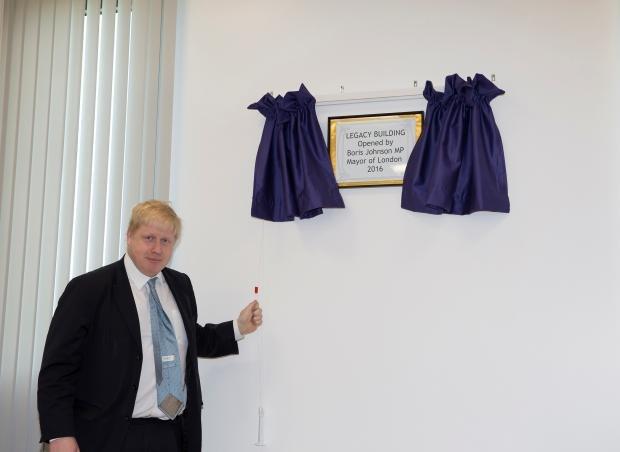 Boris johnson opens CSGS building March 2016