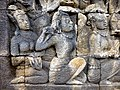 Borobudur - Divyavadana - 111 E, Maitrakanyaka meets with thirty-two Nymphs (detail 2) (11705317354).jpg