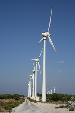 A wind farm in Bozcaada Bozcaada windfarm.jpg