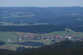Breitnau - Breitnau seen from the summit of the Feldberg